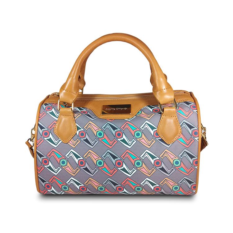 printed multicolor satchel