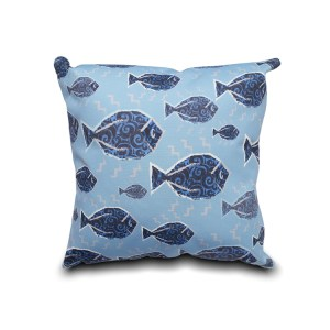 Fish Pattern Printed Pillow