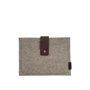 brown felt tablet case