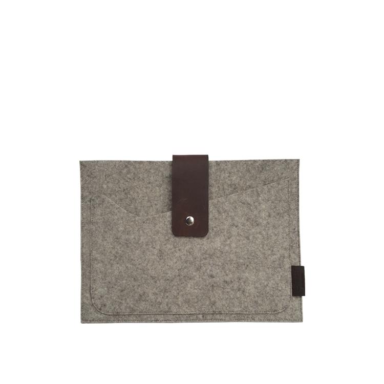 brown felt tablet case