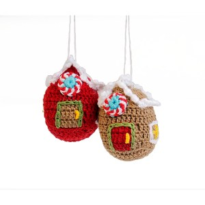 Gingerbread House ornaments set 3