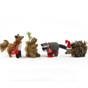 Hedgehog the Forest Gang ornaments - set 4