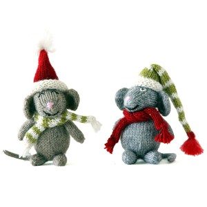 Mouse Christmas Ornaments set 3
