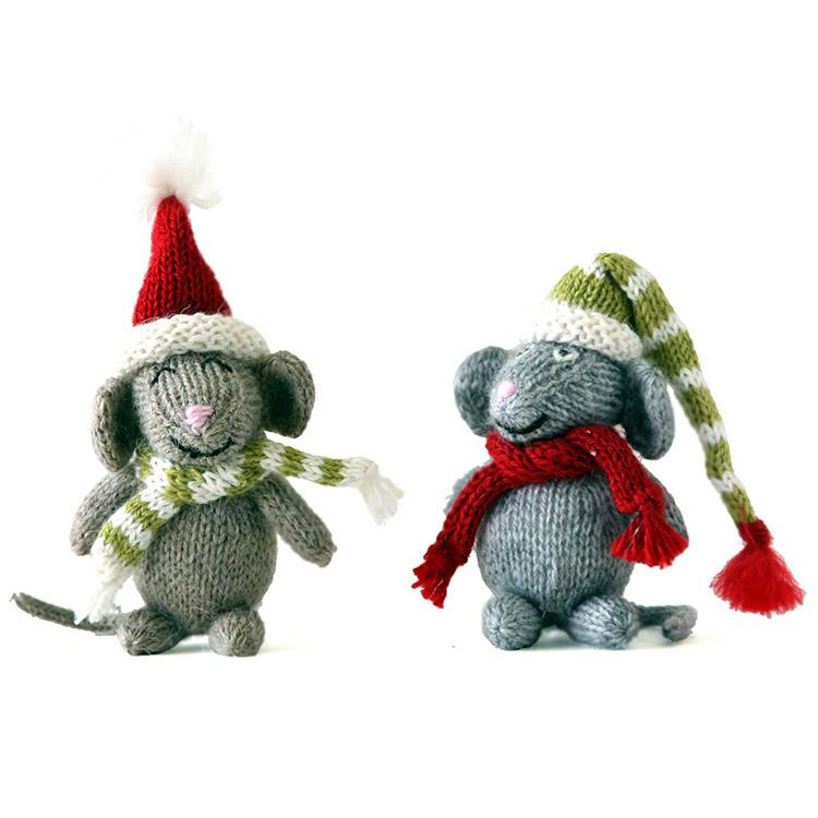 Mouse Christmas Ornaments set 3