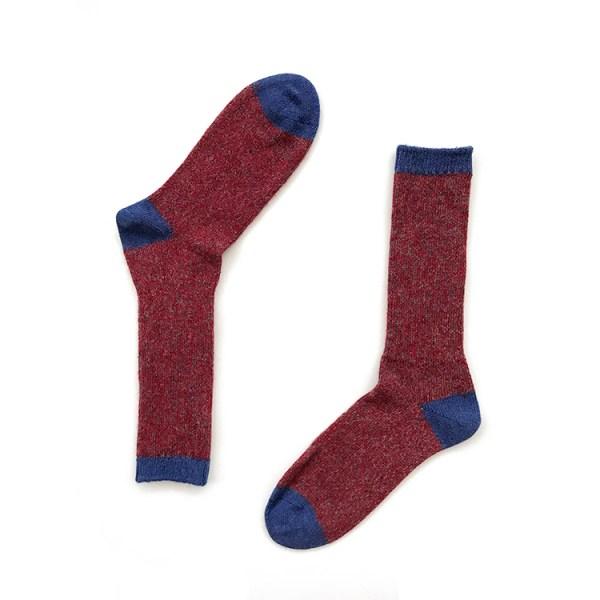 Red Alpaca Wool Socks
