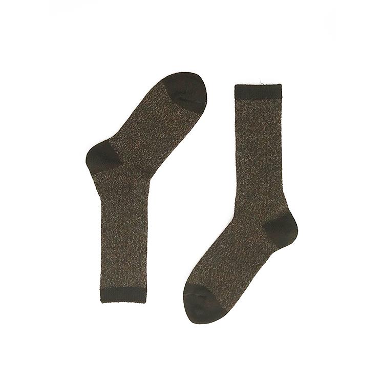 Brown Alpaca Wool Socks