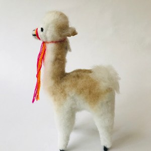 """Vicu"" the vicuña- Alpaca fur toy"