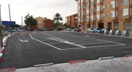 Los vecinos del barrio La Fila de Alfafar cuentan con un nuevo parking
