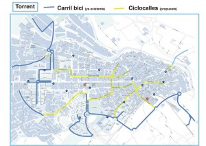 mapa ciclocalles_torrent