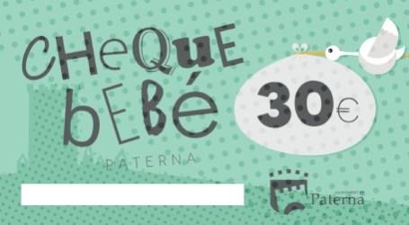Els veïns de Paterna ja poden sol•licitar el Xec-Bebè