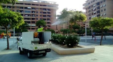 Alboraia actua a les zones verdes contra la plaga de pugó i fredolic que afecta el municipi