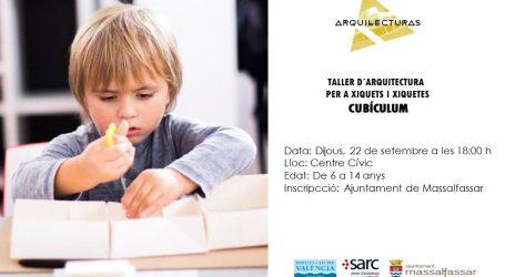 Taller infantil de distribució de l'habitatge a Massalfassar