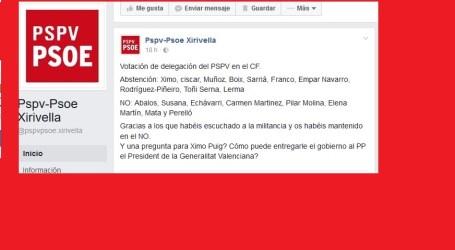 Críticas en las agrupaciones socialistas de l'Horta por la abstención a Rajoy