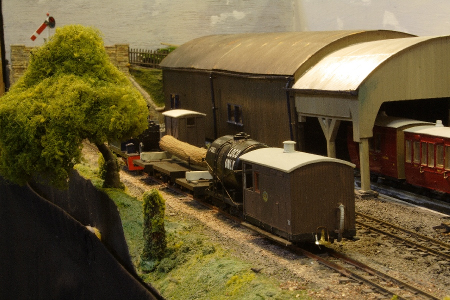 A goods train passes the Carriage Shed