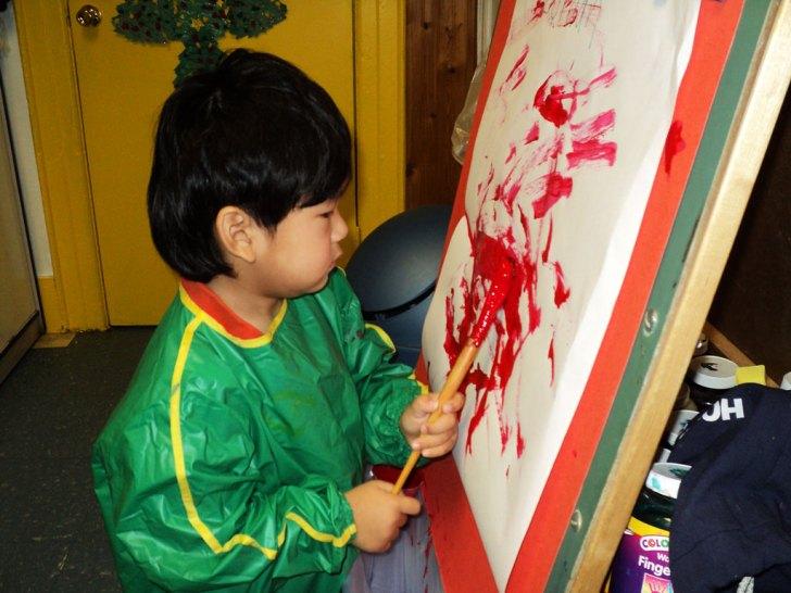 2yo-painting