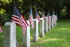 graves, flag, united states