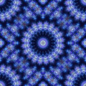 mandala, blue, fractal