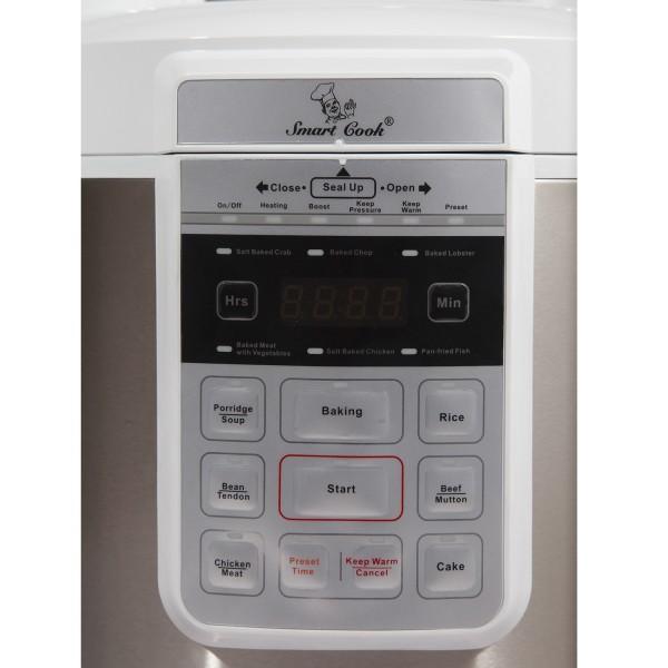 Nồi áp suất Smartcook 6990 dễ dàng điều khiển bằng cảm ứng
