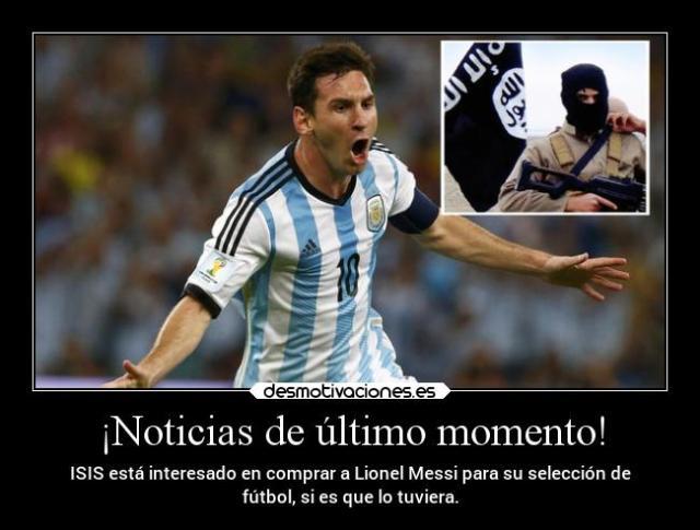 ISIS amenaza a Messi 3