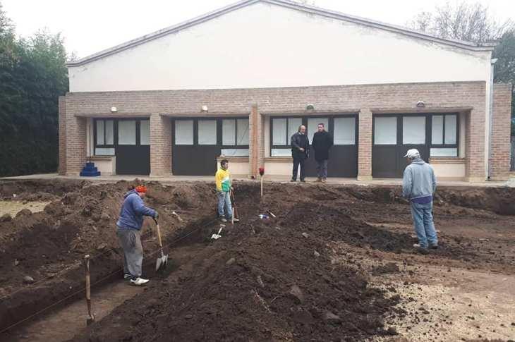 Comenzó la obra de ampliación del Jardín de Infantes Domingo Faustino Sarmiento en Mendiolaza 11