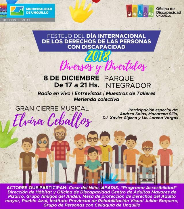 Unquillo festeja el Día Internacional de los Derechos de las Personas con Discapacidad 1