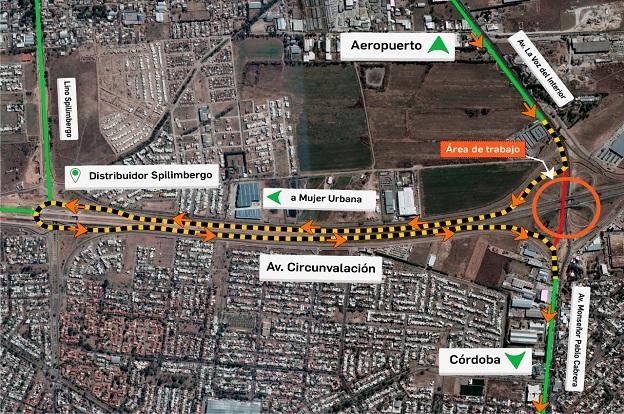 Sábado: corte total de tránsito en Av La Voz del Interior y Circunvalación 4