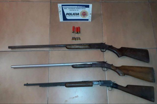 Secuestraron armas de fuego en una vivienda de Unquillo 1