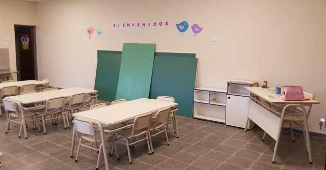 Salibi inauguró una nueva sala de tres para la escuelita Sarmiento 4