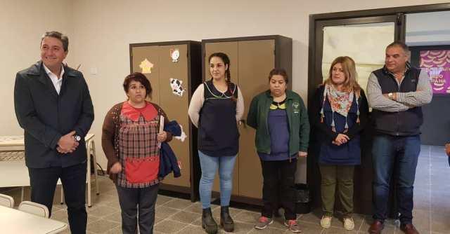 Salibi inauguró una nueva sala de tres para la escuelita Sarmiento 3