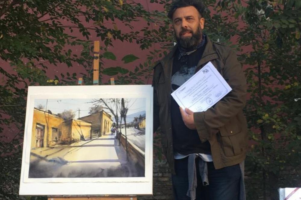 Daniel Campos, el ganador de la categoría profesional del Encuentro Unquillo Antiguo