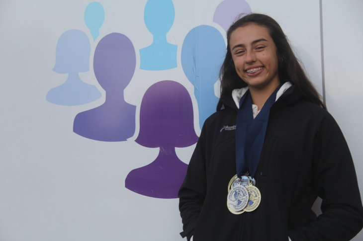 La atleta Martina Araya fue reconocida en Mendiolaza 7