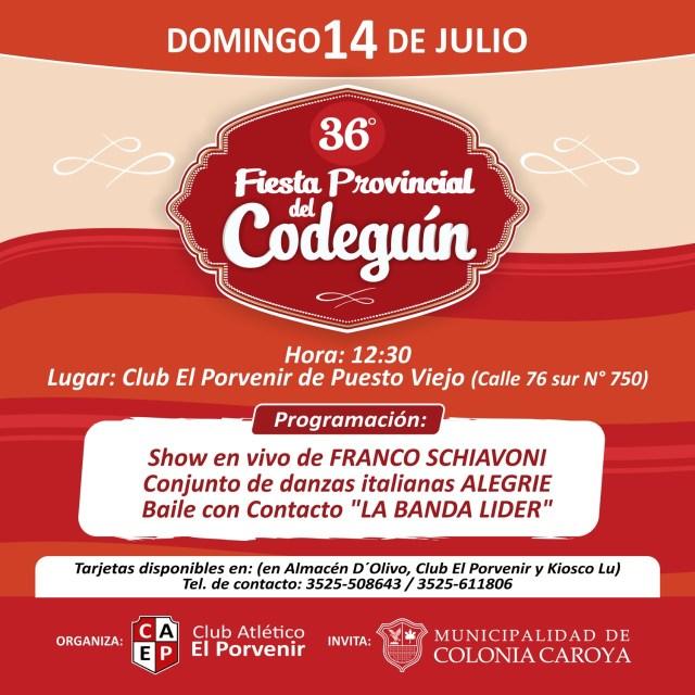 Se viene la 36º Fiesta del Codeguín en Colonia Caroya 6