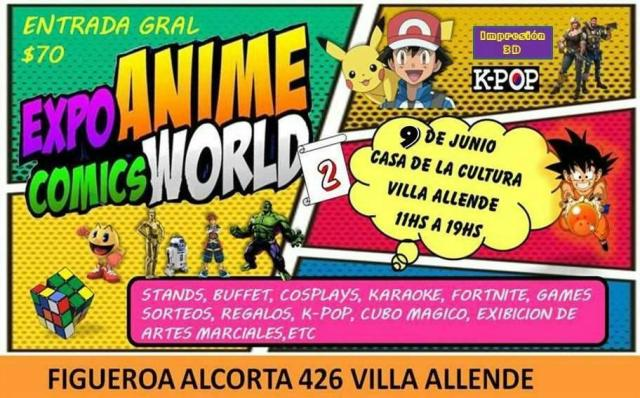 Expo Anime Comics World 2 en Villa Allende 1