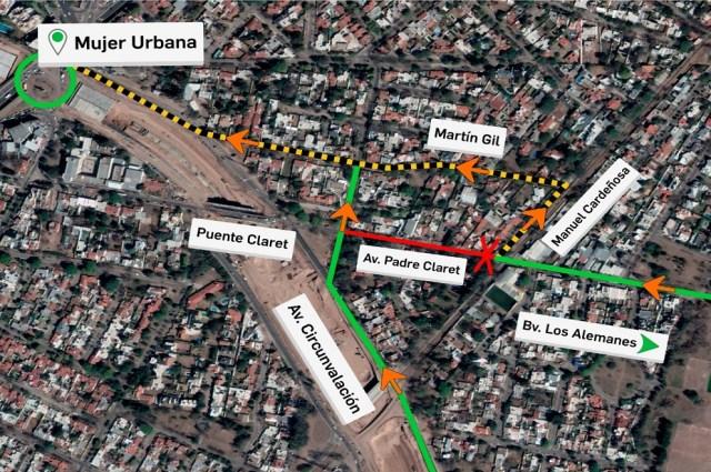Circunvalación Córdoba: cierran tramo de Padre Claret por obras hidráulicas 8