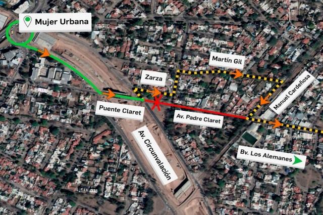 Circunvalación Córdoba: cierran tramo de Padre Claret por obras hidráulicas 7