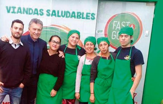 Sorpresiva visita de Macri a una emprendedora de Villa Allende 10