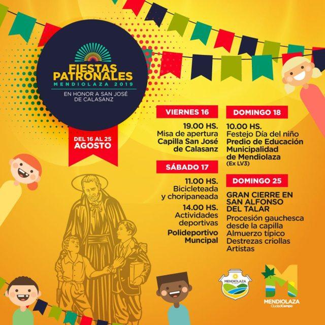 Cronograma de las Fiestas Patronales de Mendiolaza 2