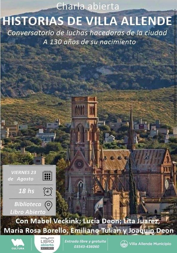 """Las """"Historias de Villa Allende"""" en formato de charla 3"""