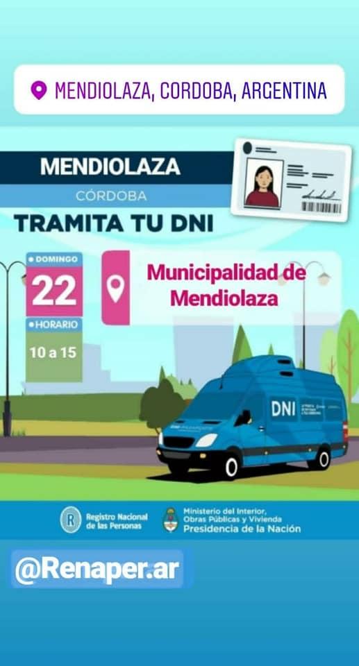 Renaper estará este domingo en Mendiolaza 5