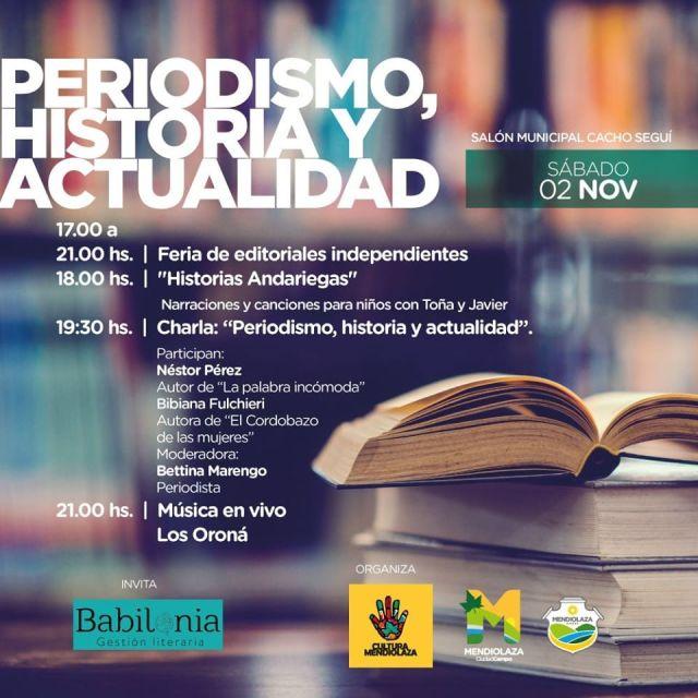 """Invitan a la jornada """"Literatura, Arte y Periodismo"""" en Mendiolaza 6"""