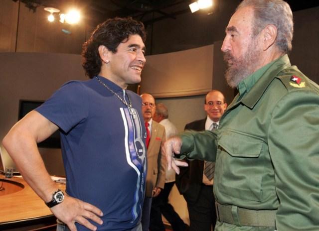 Buenos Aires: Fotografía de archivo del 27/10/2005 de Diego Armando Maradona, quien cumple 60 años mañana.Foto.- Ismael Francisco Gonzalez/AIN/Telam/cf