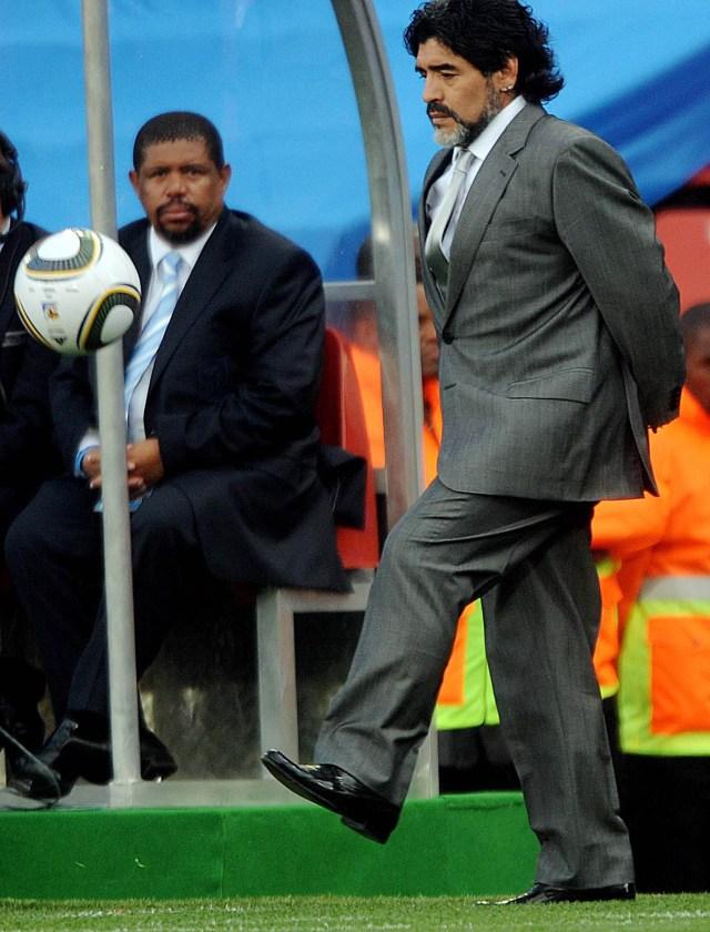 Buenos Aires: Fotografía de archivo del día 29/01/2010 de Diego Armando Maradona, quien cumple 60 años mañana.  Foto: Claudio Fanchi/Télam/CBRI