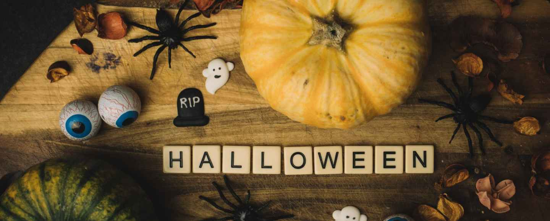 halloween flat lay