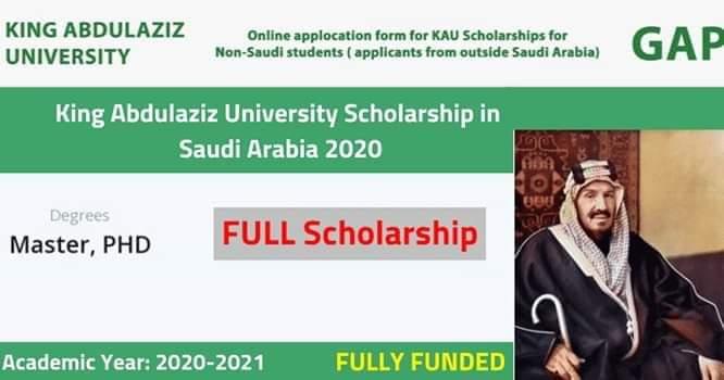 منحة جامعة الملك عبدالعزيز لدراسة الماجستير والدكتوراه (ممولة بالكامل)