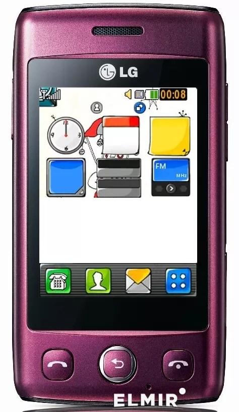 Мобильный телефон LG T300 Wine Red купить недорого: обзор ...