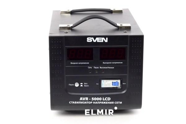 Стабилизатор напряжения Sven AVR-5000 LCD купить | ELMIR ...