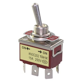 Тумблер KN3C-202 (250V;15A) ON-ON   6 pin