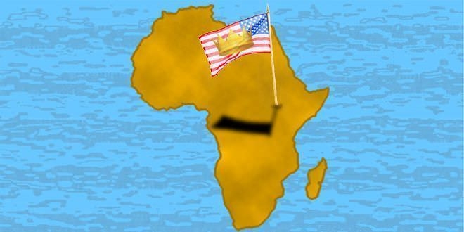 África con bandera