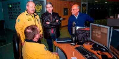 Javier Hernández, viceconsejero de Presidencia en interior visita el centro de emergencias del 112, en Pozuelo.