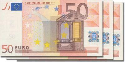 Aumentan los billetes falsificados de 50€.